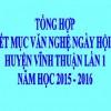 """Tổng hợp một số tiết mục trong """"Ngày hội giáo dục"""" huyện Vĩnh Thuận lần 1 năm học 2015 – 2016"""